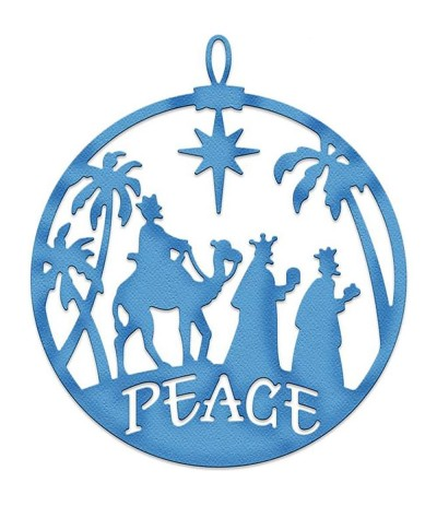 Stanzschablone Three Kings Peace Ornament - Cottage Cutz