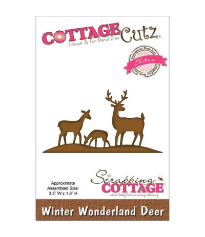 Stanzschablone Winter Wunderland Deer - Cottage Cutz