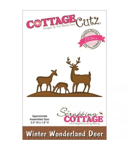 Stanzschablone Winter Wunderland Deer - Cottage Cutz