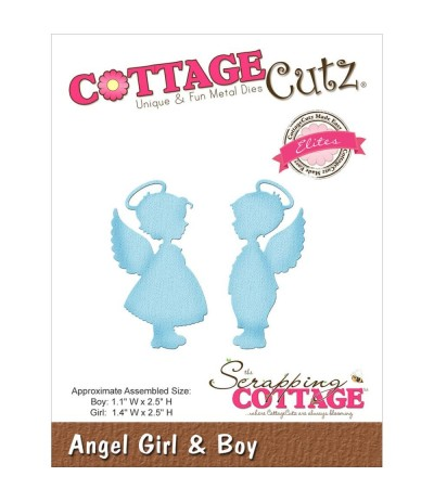 Stanzschablone Angel Girl & Boy - Cottage Cutz