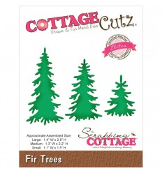 Stanzschablone Fir Trees - Cottage Cutz