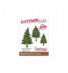 Stanzschablone Woodland Pine Trees - Cottage Cutz