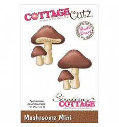 Stanzschablone Mushrooms Mini - Cottage Cutz