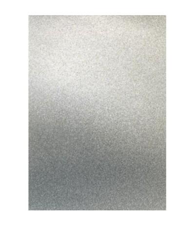 Glitter Papier silber, selbstklebend, A4 - Artoz