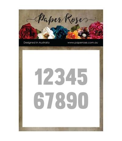 Stanzschablonen Nummern - Paper Rose