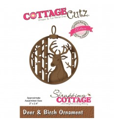 Stanzschablone Deer & Birch - Cottage Cutz