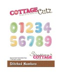 Stanzschablonen Stiched Numbers - Cottage Cutz