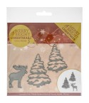 Stanzschablone Merry & Bright Christmas - Find It Trading