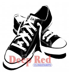 Cling Stempel Sneakers - Deep Red