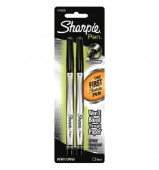 Sharpie Fin Point Pens, schwarz, 2 Stk.