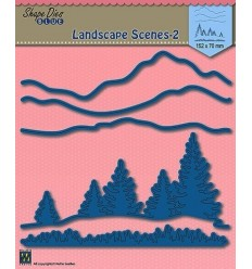 Stanzschablone Landscape scenes 2 - Nellies's Choice