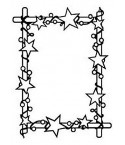 Prägeschablone Rectangle Frame with Stars - Hobby Solution