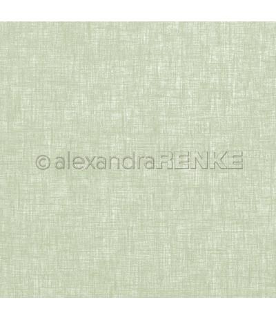 Scrapbooking Papier Leinen kleegrün - Alexandra Renke