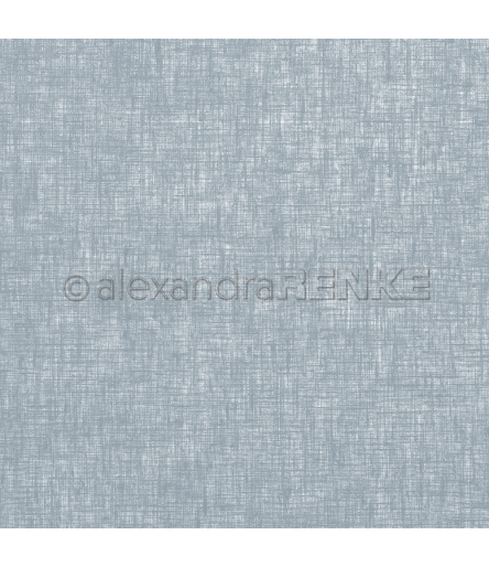 Scrapbooking Papier Leinen dunkelblau - Alexandra Renke
