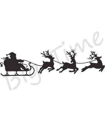 Santas Schlitten klein Stempel auf EZ Mount - Big Time