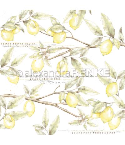 Scrapbooking Papier Zitronenzweige - Alexandra Renke