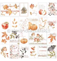 Scrapbooking Papier Kärtchenbogen Tiffis Herbstpflanzen - Alexandra Renke