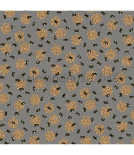 Scrapbooking Papier Spinne im Netz - Alexandra Renke