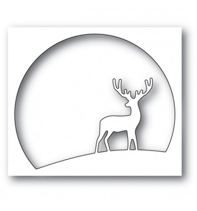 Stanzschablone Watching Deer Circle - Memory Box