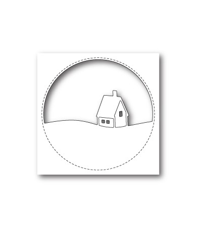 Stanzschablone Stitched Circle Cabin - Memory Box