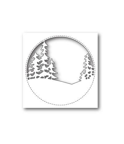 Stanzschablone Stitched Circle Trees - Memory Box