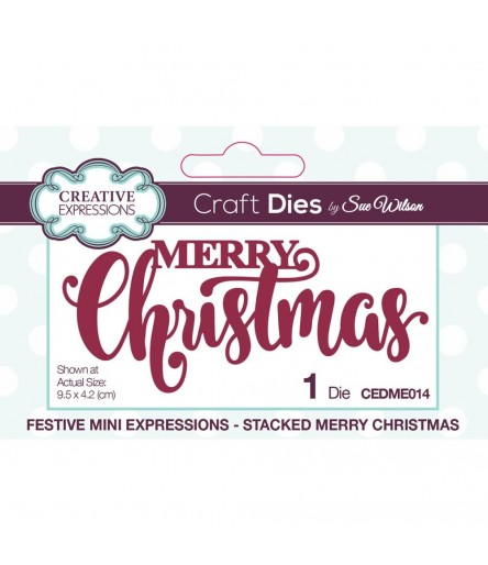 Stanzschablone Merry Christmas - Creative Expressions