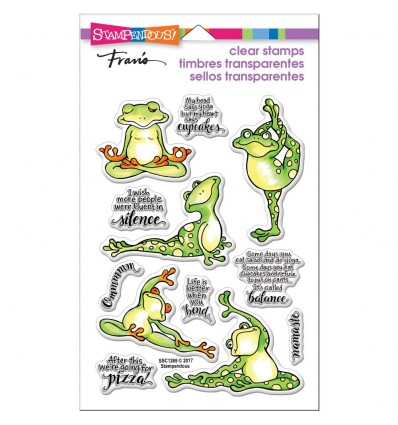 Clear Stamps Yoga Frösche - Stampendous