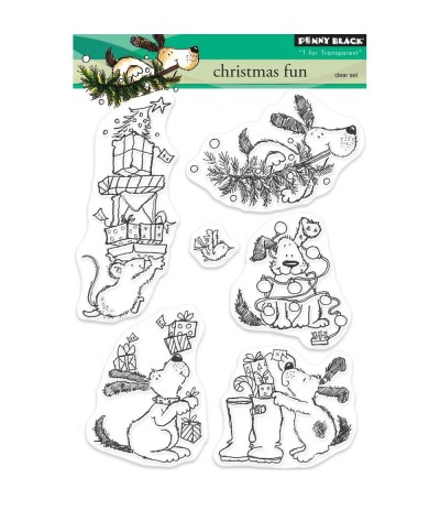 Clear Stamps Christmas Fun - Penny Black ***