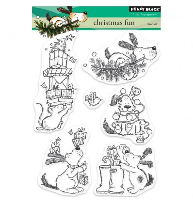 Clear Stamps Christmas Fun - Penny Black