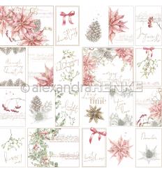 Scrapbooking Papier Kärtchenbogen Weihnachtsstern von Alexandra Renke