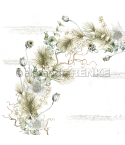 Scrapbooking Papier Mohn Eukalyptuskranz von Alexandra Renke