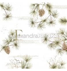 Scrapbooking Papier Fir Tree von Alexandra Renke