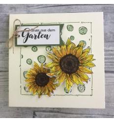 Sonnenblumen Stempel klein