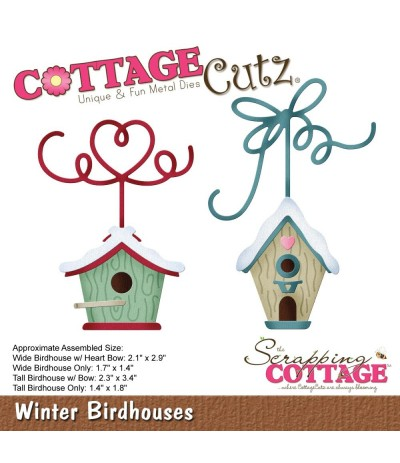 Stanzschablone Winter Birdhouses - Cottage Cutz