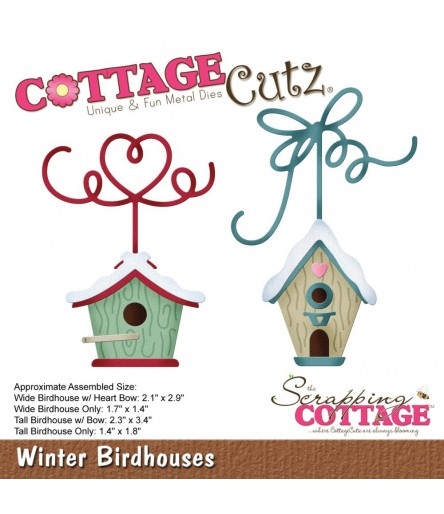 Stanzschablone Winter Birdhouses - Cottage Cutz
