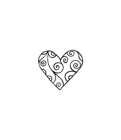 Swirl-Herz Stempel