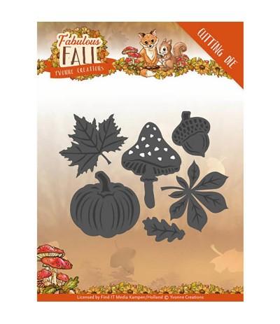 Stanzschablonen Autumn Leaves - Find IT
