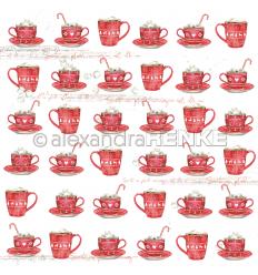 Scrapbooking Papier Rote Tassen Rapport - Alexandra Renke