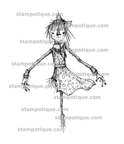 Dancing Scarecrow Holzstempel - Stampotique