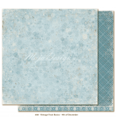 Scrapbooking Papier Vintage Frost Basics 9th of December - Maja Design