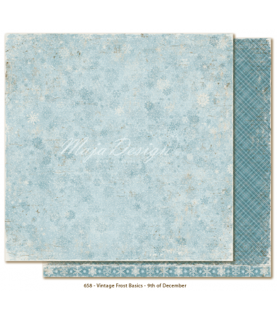Scrapbooking Papier Vintage Frost Basics 9th of December - Maja Design