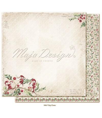 Scrapbooking Papier Christmas Season Tidy Elves - Maja Design