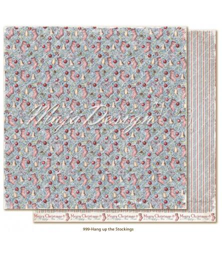Scrapbooking Papier Christmas Season Hang up the Stockings - Maja Design