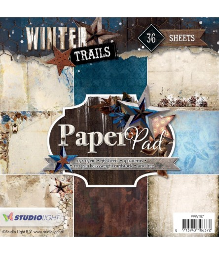 "Scrapbooking Papier Winter Trails 6"" x 6"" - Studio Light"