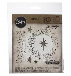 """Stanzschablone """"Snowy Stars"""" - Tim Holtz"""