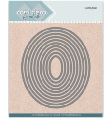 Stanzschablonen Oval, 10 Stk. - Card Deco