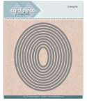 Stanzschablonen Oval, 10 Stk. - Card Deco