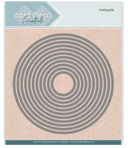 Stanzschablonen Kreis, 11 Stk. - Card Deco