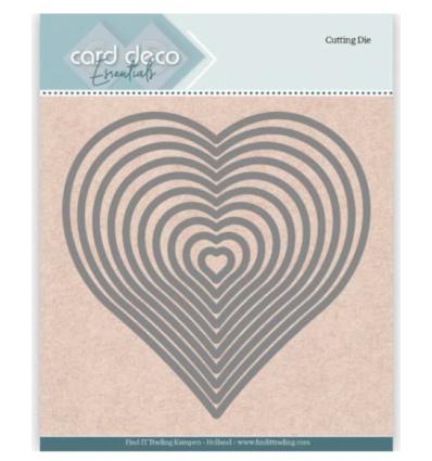 Stanzschablonen Herzen, 10 Stk. - Card Deco