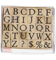 Alphabet Stempel Set Grossbuchstaben - Artemio
